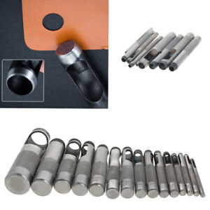 2.5-19mm Round Hollow Leather Punch Set 12/15/9 pcs Leather Craft Tool Hole Belt