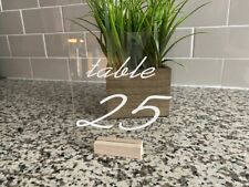 Wedding Table Numbers with Holders Clear Acrylic Calligraphy Acrylic Table Stand