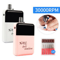 Portable Rechargeable Nail Drill Bit Pen Machine Set 30000RPM Manicure Tools Kit