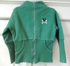 NO ADDED SUGAR Green Long Sleeved Cotton Zip Up Cardigan Sweatshirt  Top Age 3-4