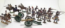 Dish Pewter Empire Napoleon III Bundle 18 Soldiers/4 Cavaleries / Cbg Canon