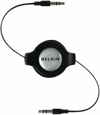 Retractable 3.5mm Belkin Audio AUX Cable F3x1980 1.5m / 5ft Car Stereo Mobile