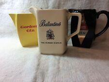 Tavern Water Pitchers Gordon Gin, Ballantines Scotch, Gilbey's Gin Made By Wade