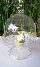 Miniatur Deko Schöne Glashaube Glasdose Deckeldose Glasglocke Bonboniere Glas
