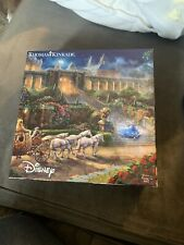 New ListingDisney Thomas Kinkade Cinderella 750 Piece Puzzle Clock Strikes Midnight Castle