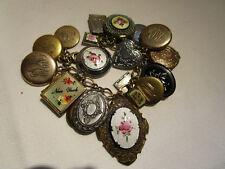Vintage Gold Filled Lockets and Charms Bracelet  24 in all  Enamel  Excellent!