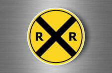 Sticker decal warning car laptop fridge macbook road sign roadsign train station