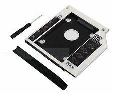 2nd Optical HD SSD hard drive SATA Caddy for HP EliteBook 2530p 2540p with bezel