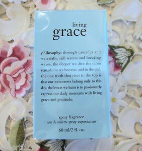 ~PHILOSOPHY~LIVING GRACE~SPRAY FRAGRANCE~Eau de Toilette~2 oz *NIB* ~$46 Retail~