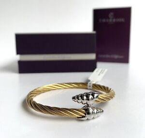 Charriol * Bangle Celtic Coquille 04-421-1255-0 Yellow Gold PVD & Silver Steel S