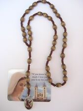 St.Michael the Archangel Rosary with  Virgin Mary medal from Medjugorje wood