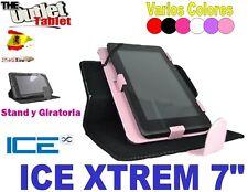 """FUNDA TABLET XTREM 7"""" UNIVERSAL función stand y giratoria varios colores ICE"""