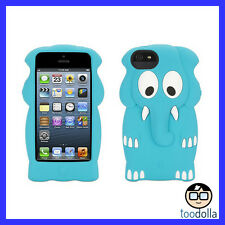 GRIFFIN Kazoo silicone case, fun & cute for adults/kids, iPhone 5/5s/SE Elephant
