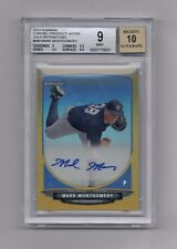 MARK MONTGOMERY 2013 BOWMAN CHROME GOLD REFRACTOR AUTO RC #22/50  BGS 9 10