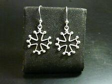orecchini con CROCE di MALTA argento 925 MALTA CROSS earrings sterling silver
