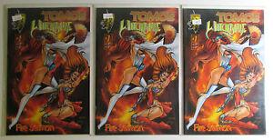 Tomoe Witchblade Fire Sermon Lot of 3 #1 Crusade Comics (1996) Comic Books