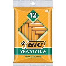 BIC Sensitive Shaver Men's Disposable Razor, 12 Count
