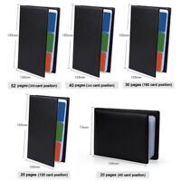 Leather Business Cards Case Organizer 40-300 Card Credit Card Book Keeper