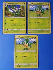 2x Simisage 13/147, 3x Pansage 12/147 Pokemon TCG card SM Burning Shadows NM