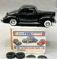 AMT #140-149 1940 FORD DELUXE COUPE model kit 1:25 PRO-BUILT & box p1