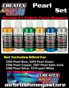 Createx Airbrush Colors Pearlized 60ml Set Importer Direct + Free Insured Post
