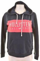 HOLLISTER Womens Hoodie Jumper Size 16 Large Navy Blue Cotton  U012