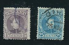 SPAIN used Scott 276,279 King Alphonso XIII 1900-1905
