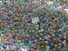 1/2 LB LOT 8MM ROUND SPECKLED GLASS BEADS (BD-607)