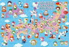 60 pieces Children's Puzzle Let's learn Hello Kitty and Japan map  Child puzzle