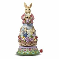 New Enesco Jim Shore Easter Bunny Rotating Musical Free Shipping