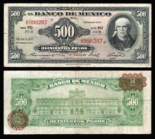 Mexico 500 Pesos Morelos 8-NOV-1961. Series MO. P-51L. Very Fine. 8990207