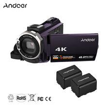 Andoer 4K WiFi 1080P HD 48MP 16X Digital Video Camera Camcorder DV Recorder P4I1