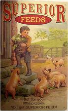Superior Feeds Farm Animal Food Advertisement Rustic/Vintage Metal Sign