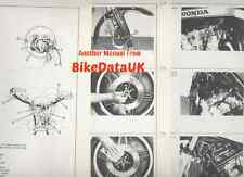 Original Honda CB900F Super-Sport (1980-on) Dealer Set-Up Manual CB 900 F-A SC01