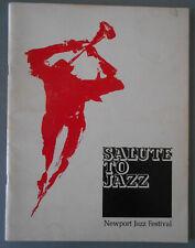 "Newport Jazz Festival 1968 Program Original ""Slaute to Jazz"" Original"