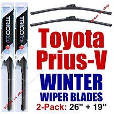 WINTER Wipers 2pk Premium Winter Blades fit 2012-2016 Toyota Prius V - 35260/190