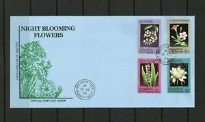 [BC153] Grenadines of St.Vincent 15/10/1984 Night-blooming Flowers FDC.