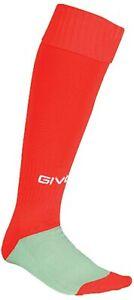 Givova C001 Rosso Calza Calcio calcetto Unisex
