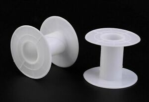 "White Plastic 1-3/4"" Tall Spools ~Empty for chain, cord, wire, ribbon ~ Pick Qty"