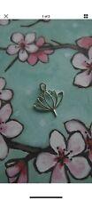 Lotus Flower Sterling Silver Pendant Jewelry 925 Necklace Charm Large Zen Buddah