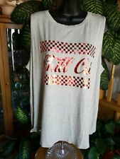Hippie Chic Womens Gray Chill Out Sleeveless Tanktop Size 1X