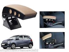 Kozdiko Beige Chrome Round Armrest For Hyundai i10 Grand