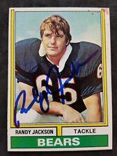 Randy Jackson Chicago Bears NFL 1974 Topps # 44 autographed Football Card