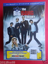 box set 3 dvds + t-shirt serie tv the big bang theory season 4 quarta stagione f