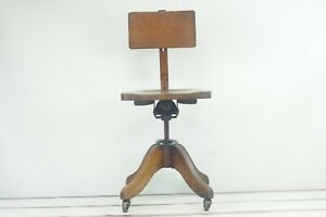 Antique 1800s Heywood Wakefield Chair Co Swivel Bankers Chair Desk Chair Wood