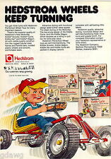 1977 ADVERT Hedstom Kid's Toy Pedal Cars Moto Kar Cycle Scooter Kusan's Tool Box