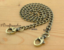 chaîne en métal pour sac à main Anses de sacs Poignée 60 cm laiton vieilli K17