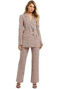 Pasduchas Checker Blazer in Pink Check Size 12