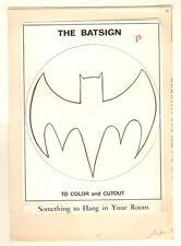 Batman Coloring Book Art p.80 - Batsignal - 1966 by Jason Studios