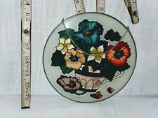 Stained Glass Suncatcher Medium Circle Garden Bloom Spring
